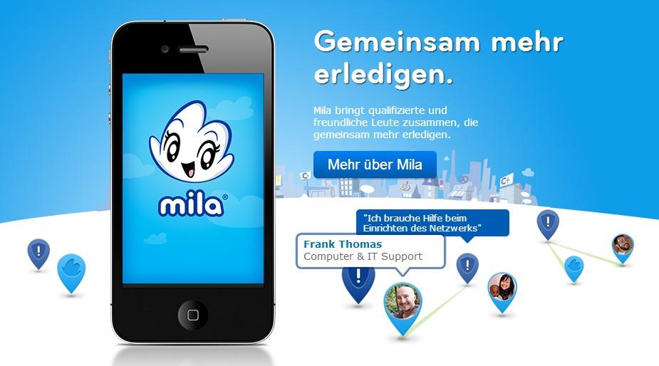 """mila ist eine """"share economy"""" Plattform zur gegenseitigen Hilfe."""