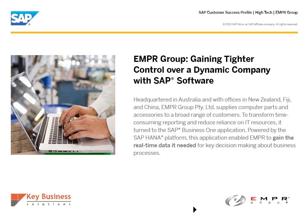 SAP Business One HANA bietet dem Unternehmen einen besseren Einblick in alle Geschäftsvorgänge