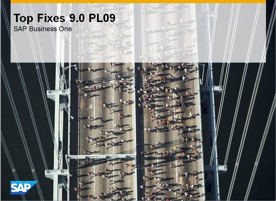 SBO 9.0 PL09 Änderungen