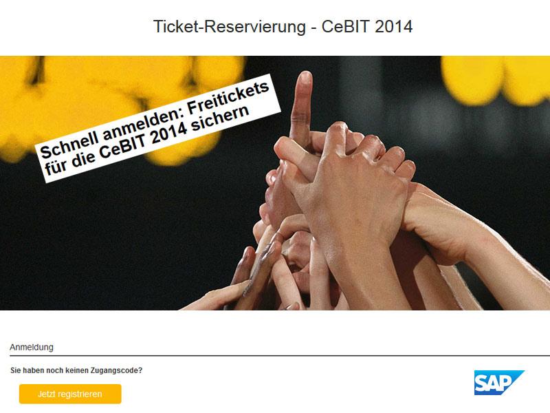 CeBIT 2014 Freitickets von der SAP