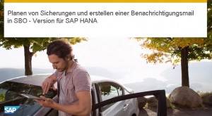 Einrichten von Datenbanksicherungen in SAP Business One - Version für SAP HANA