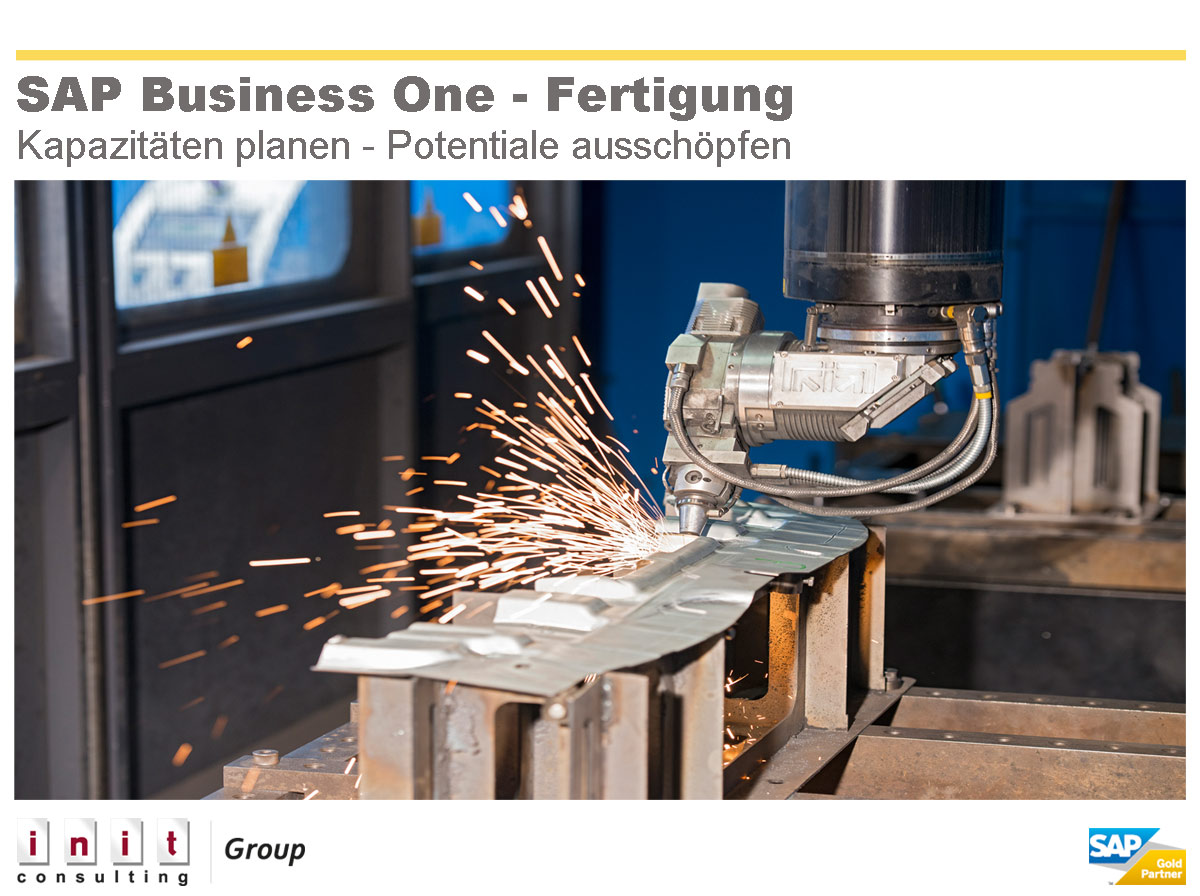 SAP Business One mit integriertem Produktionsmodul
