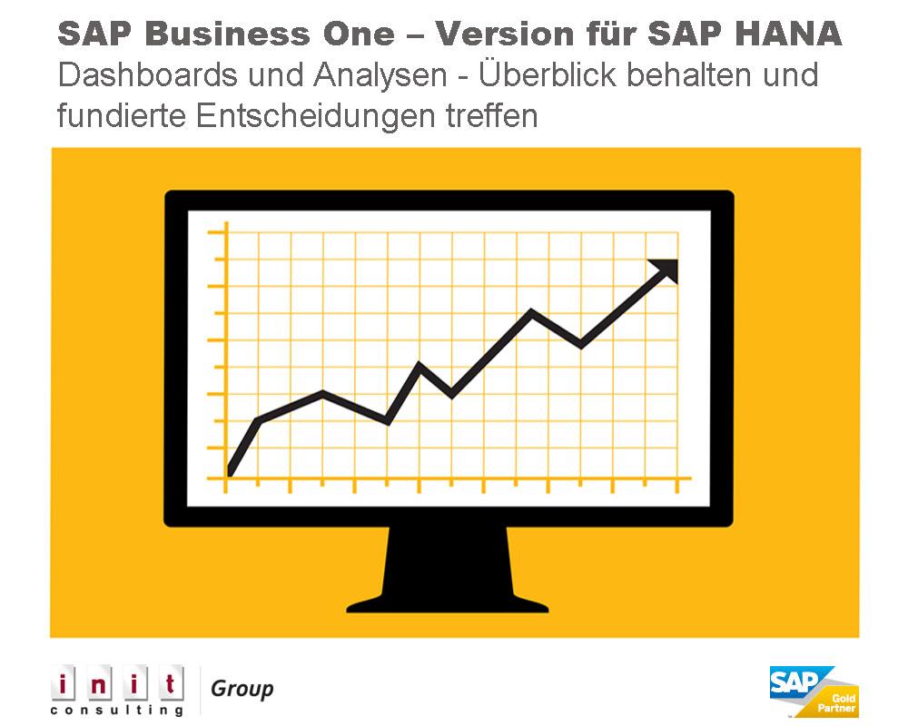 Die analytischen Dashboards in SAP Business One, Version für SAP HANA liefern sekundenschnell genau die benötigten Informationen.