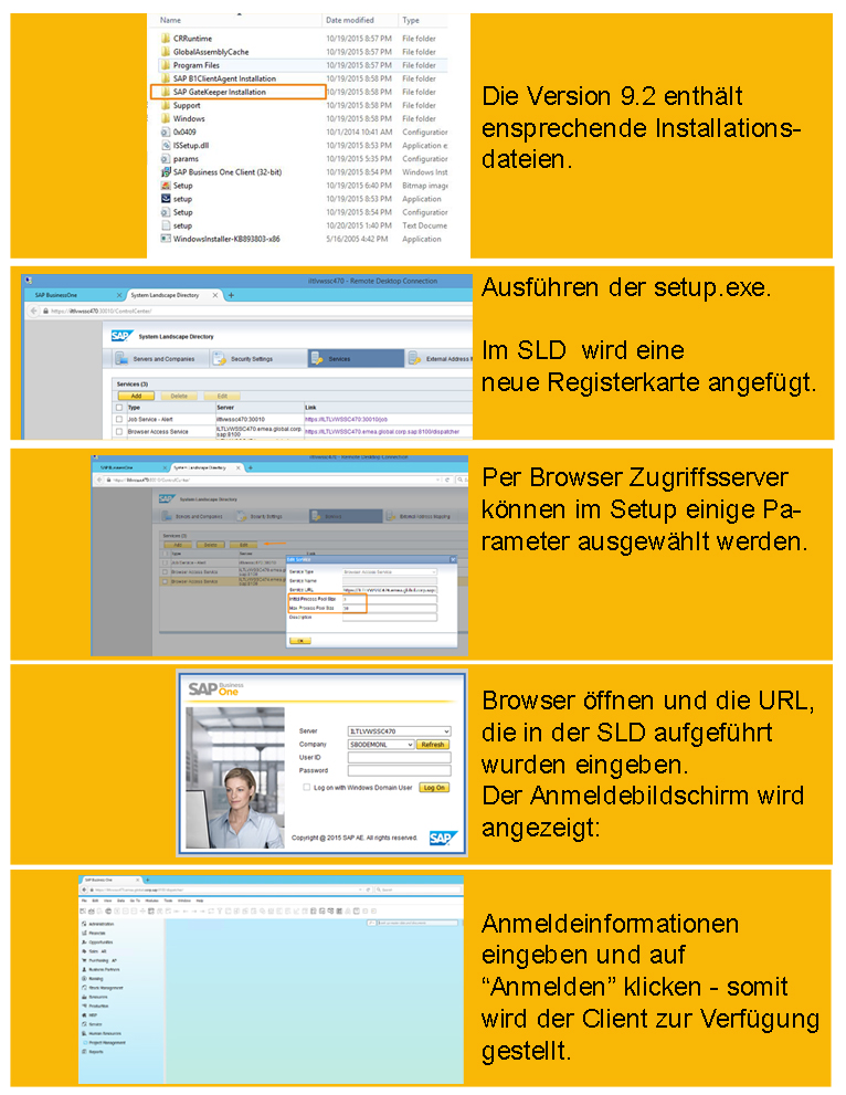 Browser Access SAP Business One 9.2
