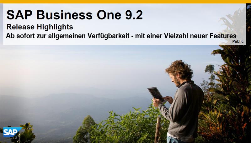SAP Business One Version 9.2 bringt viele Neuerungen und viele Verbesserungen.