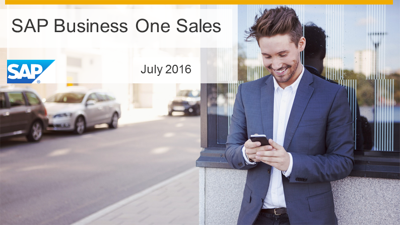 Die SAP Business One Sales App ist relevant für SAP Business One, Version für SAP HANA