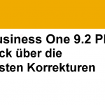 Top Fixes SAP Business One 9.2 PL07