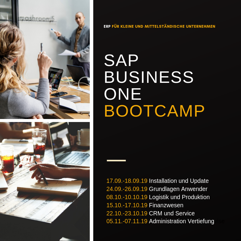SAP Business One Schulungen und Bootcamps
