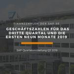 Quartalsmitteilung der SAP SE