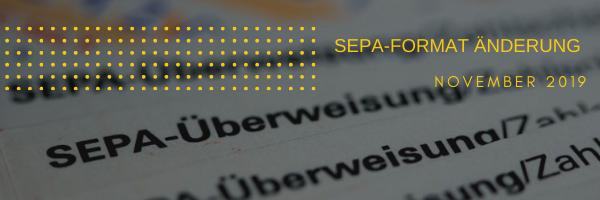 SEPA Format Änderung in SAP Business One