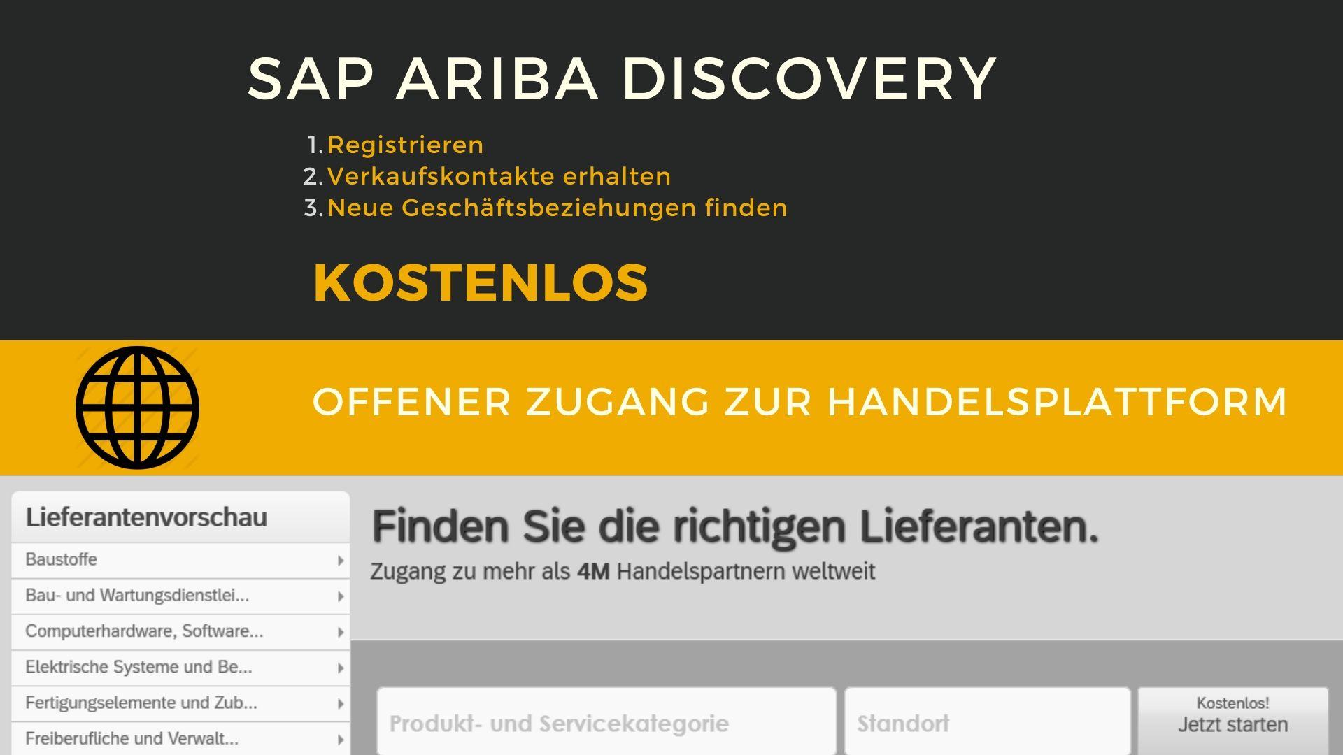 SAP Ariba Discovery kostenloser Zugang